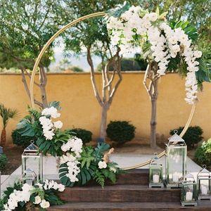 Personnaliser bricolage toile de fond de mariage décor fer anneau arc fond cadre étagère pour extérieur intérieur centres de décoration accessoires