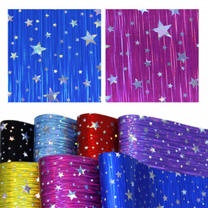 20*34cm 7 Pcs Laser Stripes Star Synthetic Leather Set,DIY Handmade Materials For Crafts Home Events Decor,1Yc7303