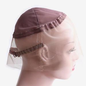Auf 360 Schweizer Spitze Kappen für 360 Spitze-Perücke Professionelle Haar-Verlängerungen Perücke Zubehör Braun Farbe