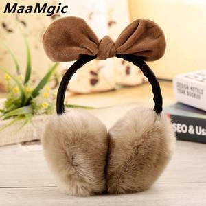 Neue reizende Kaninchen-Pelz-Winter Earmuffs Ohrwärmer Winter-Komfort Earmuffs warmer Winter Earmuffs Für Frauen Mädchen Pelz