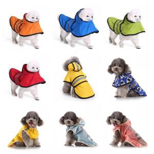 Venta caliente perro Impermeable Los perros grandes del poncho impermeable para mascotas reflectantes de luz Capa camuflaje Impermeables Varios Color del resorte 29mq H1