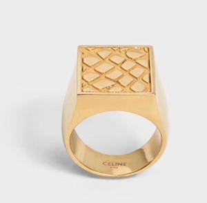 18K reales Gold überzogene Ringe Quadrat-Entwurf für Frauen-Finger-Ring passte alle für Mädchen und Frauen Schmuck Geschenk PS5434