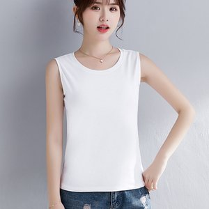 Womens Cotton Camis Solid color Female Slim Sleeveless Casual Vest Solid Color Crop Lower Cut Top For Ladies Fitness Vest Summer