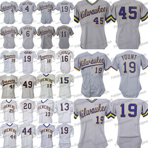19 Robin Yount Paul Molitor Bill Spires Gary Sheffield Dickie Thon Pat Listach Teddy Higuera Hank Aaron Juan Nieves Jersey