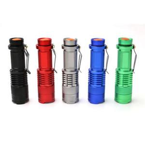 Flash Light 7W 600lm Q5 LED randonnée en plein air Camping lampe torche étanche lampes de poche Zoom Mise au point réglable ZZA244-1