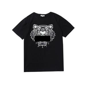 Больше цветов рубашки для мужчин Tiger Head KENZO топы рубашка бренд одежды с коротким рукавом круглый воротник футболка Мужчины Женщины S-XL