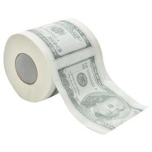 1Hundred Dollar Bill Printed Toilet Paper America del dollaro del tessuto della novità divertente $ 100 TP