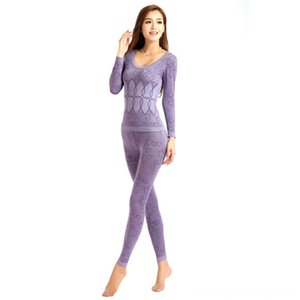 2 Pieceset Female Thermal Underwears Cycling Protective Gear Cycling Women Breathable Warm Long Johns Slim Underwear Set Bottoming For Lady