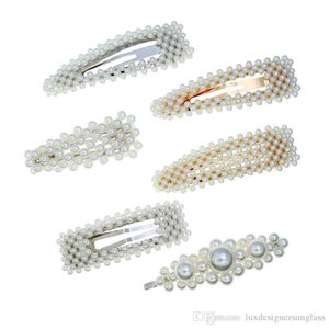 Mix Style White Pearl Hair Clip Women Girls Pearl Barrettes Gift for Love Girlfriend Fashion Hair Accessoories Wholesale Price