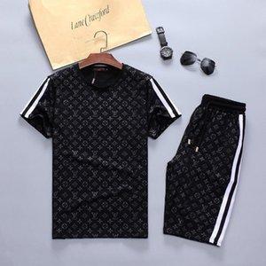 정장 셔츠 남성의 디자인 스포츠 정장 조깅 옷을 조깅 인쇄 남자 짧은 소매 스포츠 새로운 패션 알파벳