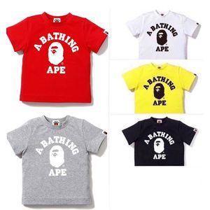 Estate Ragazzi Cotone bambini manica corta maglietta dei bambini Bape ragazze dei ragazzi maglietta di alta qualità del bambino Tees