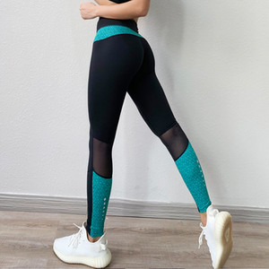 BINAND Sexy Mesh Gym Leggings Sport Women Fitness Yoga Pants Women Push Up Sports Leggings Women Workout Fitness Leggings Ladies Y200529