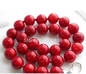 "huij 002771 ريال 18 ""14MM NATUREL RED CORAL حبة قلادة"