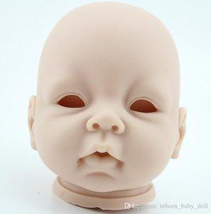 Bebek 20-22inch Çok yumuşak, silikon, vinil, yeniden doğan bebek kiti gerçek dokunma, baş, kollar ve bacaklar boyanmamış canlı