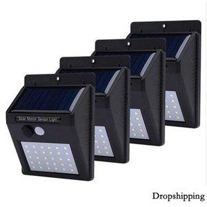 LED Solar Light Motion Sensor Illuminazione da giardino per esterni Decorazione Recinzione Scale Illuminazione di sicurezza per la sicurezza di strade