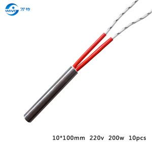 Бесплатная доставка 10*100 мм длина нагревателя переменного тока 220 В 200 Вт электрический нагревательный элемент 10 шт.