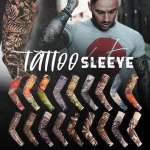 10 pcs Temporary Fake Tattoo Sleeve Arm Warmer Designs Summer Sunscreen Arm Sleeves Cover Tattoos Sun UV Protection#y4
