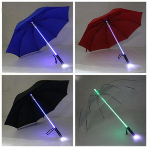 LED lumière parapluie de lame froide coureuse Sabre lumière Sabre Flash Rose Rose Night Walkers Flashlight Bouteille Parapluie Accueil Produit LXL754-1
