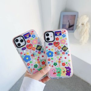 For iPhone XSMAX XR X XS 8 7 Flowers Printing Case Fashion Phone Case for IPhone 11 Pro MAX Designer TPU Case Wholesale