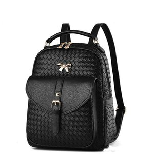 fashion Women's PU leather bags backbag hot selling woven packet Restoring ancient ways Women Backpacks lady Mochila bag