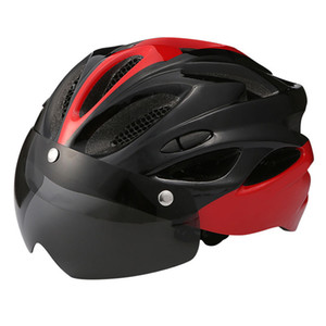 Bicycle Helmet Protective Helmet Windproof Lenses Integrally-Molded Breathable Cycling Sport Cap