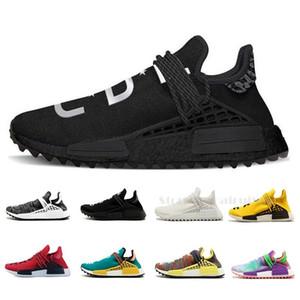 Adidas NMD 2019 Human Race Hommes Chaussures de course avec la boîte Pharrell Williams Exemples Jaune Noir Chaussures de sport de base Designer Sneakers 36-45