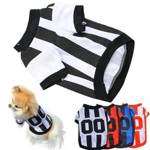 XS S M L New Fashion Cute Small Pet Dog Cat Football Clothes T Shirt Shirts Apparel Vest #01 Dog Apparel