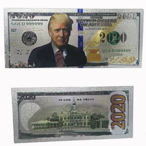 Promozione presidente degli Stati Uniti Donald Trump Nuovo Colorized $ il 2020 Dollar Bill stagnola d'argento banconota commemorativa Trump soldi falsi