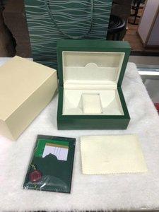 Para mens reloj Rolex de madera caja original interiores Relojes mujer Outer Cajas Papeles regalo del bolso de los hombres de pulsera diseñador movimiento Autoamtic