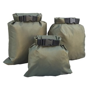 3Pcs Set Carrying Valuable Perishable 30D ultra-high quality DuPont cordura coated silicon-Nylon Green Waterproof Bag