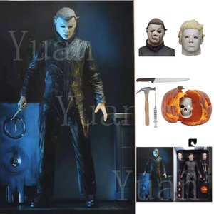 18 centímetros 2019 New Original presente boneca Halloween Natal Neca final Michael Myers II Toy Action Figure