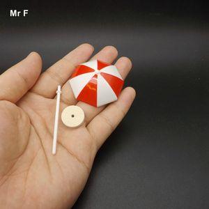 6cm 미니 비치 파라솔 모델 장난감 수지 공예 공예 액세서리