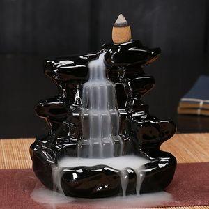 Backflow Budist Tütsü Lambaları Seramikten Yapılmış Çoklu Stiller Joss Çubuk Censer Tütsü Koni Brülörler Klasik Koku Lamba Kulesi