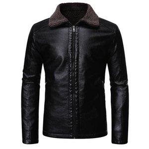عالية الجودة PU الرجال جاكيتات جلدية ألبسة التنزه مقنع معطف الرجال الدراجات النارية سترة الرجال الأزياء الدافئة بالاضافة الى حجم سترة جلدية