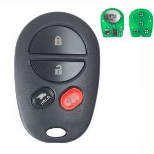 Télécommande de remplacement clé Fob 315 MHz pour Toyota Sienna 2004-2016, ID FCC: GQ43VT20T