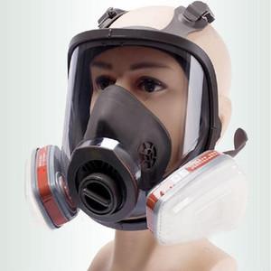 6800 Full Face-Stück Gas Respiratorschablone Filter 2091 Chemical Industrial Schutzspritzen Weld Lab Staubdicht Farbe ersetzen