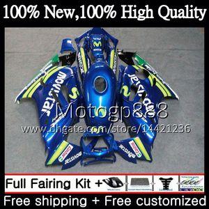 هيكل لهوندا CBR600RR F3 CBR600FS CBR 600 F3 97 98 Movistar Blue 48PG21 CBR 600F3 FS CBR600F3 CBR600 F3 1997 1998 Fairing Bodywork kit