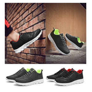 outdoor walking running shoes triple black white red green comfortable leather trainers men women designer sneakers size 38-46