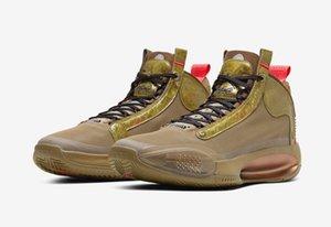 Haute qualité New Jumpman XXXIV 34 garçons Bayou Chaussures de basket-ball AJ34s Brown Varech hommes chaussures de sport avec boîte magasin Livraison gratuite Taille 40-46