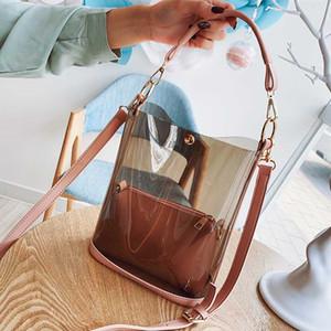 Big Bag Frauen 2020 der neuen Art Transparent Schulter Gel-Beutel koreanischen Stil Versatile große Kapazitäts-Handschulter