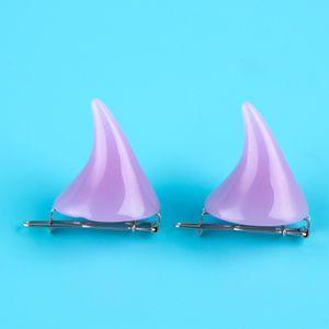 1 Pair Small Demon OX Horn Hairpins Gothic Party Cosplay Costume Pin Hairpins Costume Horn Halloween Hair Accessories Clip