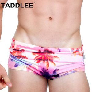 Taddlee Swimwear Sexy Swimsuits Swim Boxer Briefs Bikini Gay Penis Pouch Wj Low Rise Bathing Suits For Men Board Surf Shorts J190715