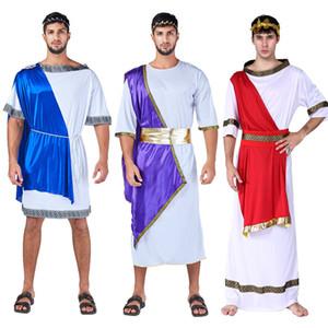 Fiesta Fiesta Cosplay Ropa Disfraz de Halloween Antiguo griego Romano Guerrero Conjunto de ropa del Parlamento Adulto Traje de Samurai 06