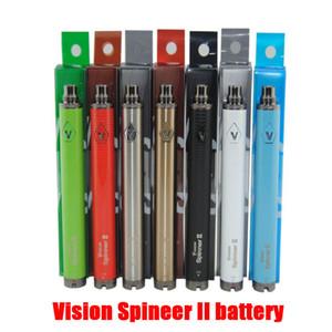 Видение Spinner II 2 Vape Батарея 900mAh 1100mah 1300mah Twist Variable Voltage VV батареи электронной сигареты 510 нить аккумулятор с упаковки коробки