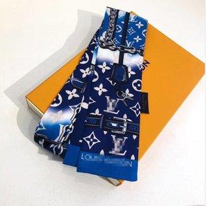 2020 Louìs Vuìttõn brand designer silk scarf hair band super soft 8*120cm Top level silk ribbon fashion headband bow tie handbag strap