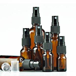 100мл Пустой коричневый стекло спрей бутылка Атомайзер Насосы для Эфирные масла для путешествий Духи Bulk Портативный ручной дезинфицирующее бутылки