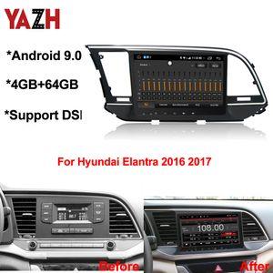 YAZH Android 9.0 Автомобильный DVD GPS автомагнитол для Hyundai Elantra 2016 2017 С 4 + 64GB Auto Radio DSP Bluetooth 5.0 Octa ядра Multimedia Player