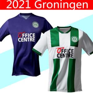 20 21 FC Groningen soccer jersey home away robben 2020 2021 Groningen Deyovaisio Zeefuik Daishawn Redan football shirt maillot de foot