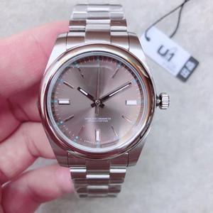 2020 venta caliente U1 fábrica nuevo para hombre Relojes de cristal de zafiro acero inoxidable automático de los hombres del movimiento de barrido mecánico Relojes Hombre Reloj de pulsera