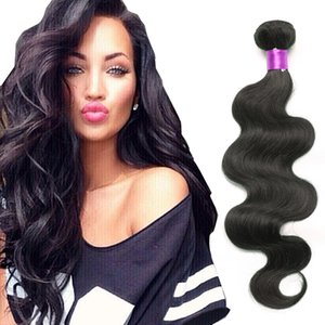 Vague vierge péruvienne Vague de corps 3pcs Naturel Naturel Naturel 100 Pas cher Human Hair Weave Bundles Peruvian Corps Virgin Virgin Extensions Wefts